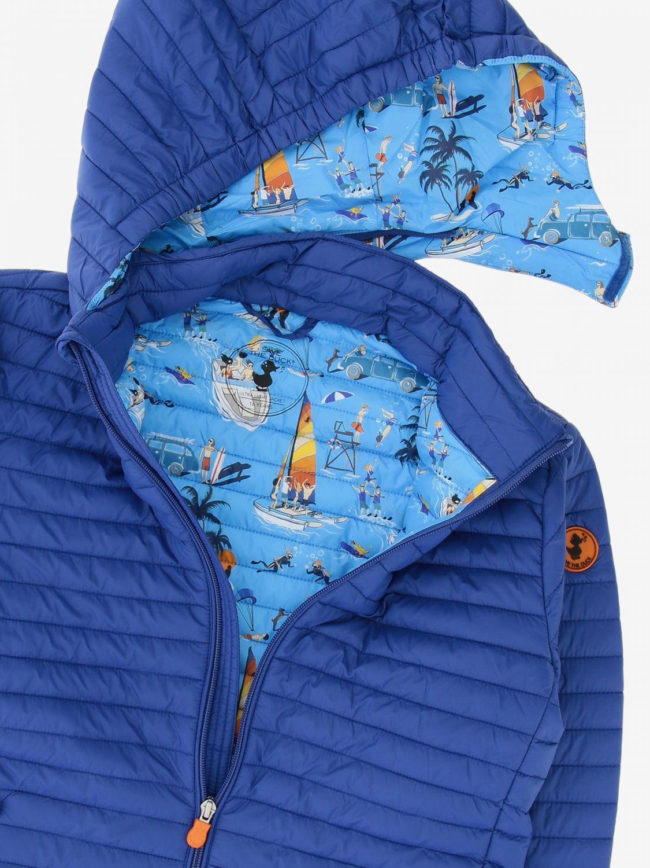 Save The Duck Daunenjacke mit abnehmbarer Kapuze blau 3