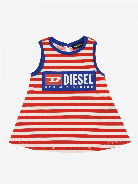 Abito Diesel: Abito Diesel a righe con logo rosso 1