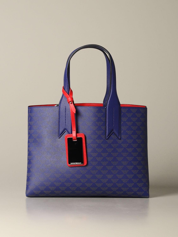 Shoulder bag women Emporio Armani blue 1