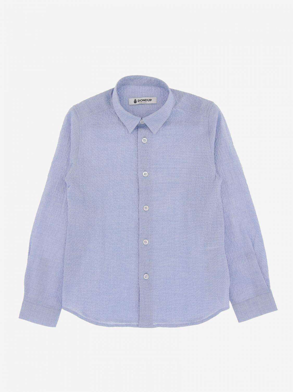 Camicia Dondup basic a maniche lunghe azzurro 1