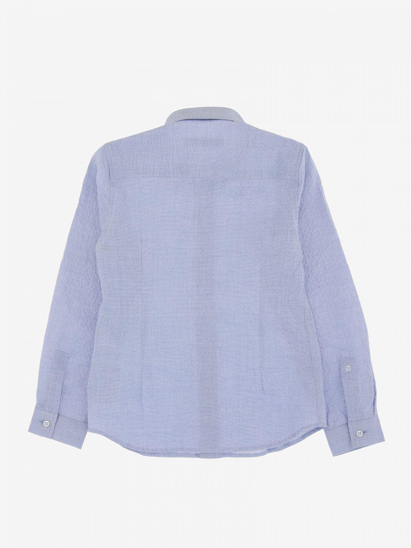 Camicia Dondup basic a maniche lunghe azzurro 2