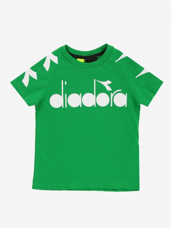 T-shirt Diadora: T-shirt Diadora a maniche corte con logo verde 1