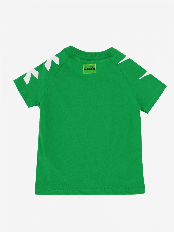T-shirt Diadora: T-shirt Diadora a maniche corte con logo verde 2