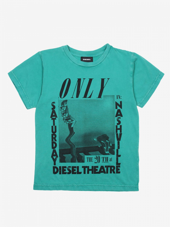 T-shirt Diesel: T-shirt bambino Diesel verde 1