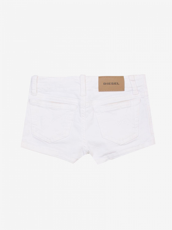 Pantaloncino Diesel: Pantaloncino bambino Diesel bianco 2