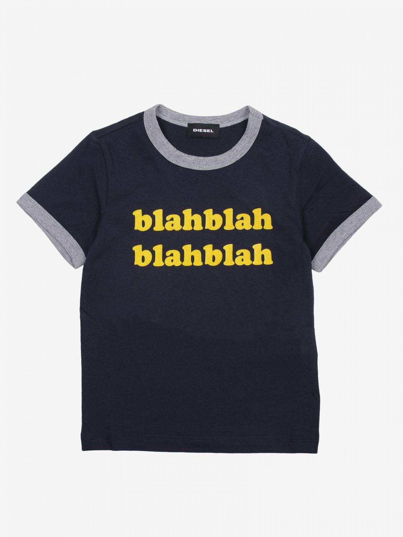 T-shirt Diesel: T-shirt bambino Diesel blue 1