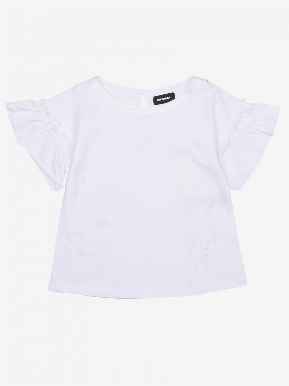 T-shirt Diesel: T-shirt bambino Diesel bianco 1