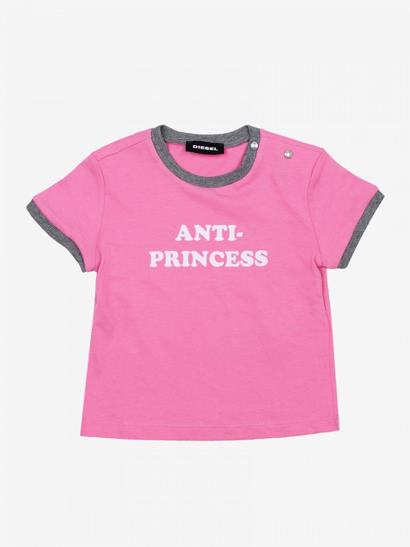 T-shirt Diesel: T-shirt bambino Diesel rosa 1