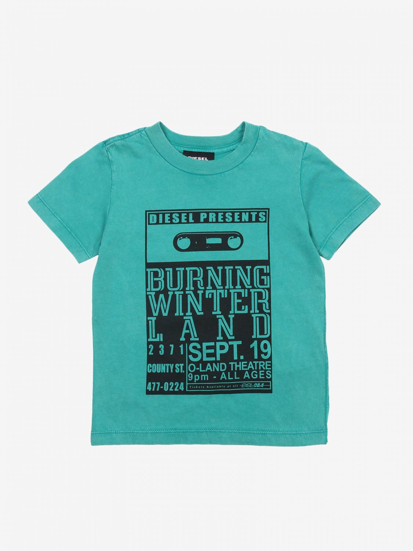 T-shirt Diesel: T-shirt bambino Diesel azzurro 1