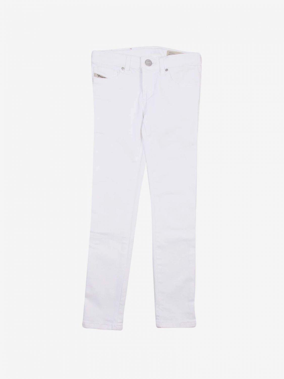 Pantalone Diesel: Pantalone bambino Diesel bianco 1