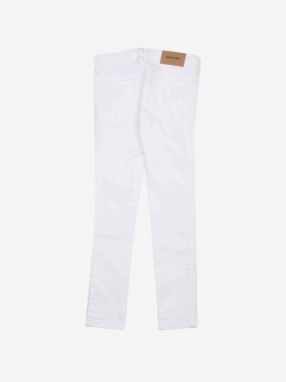 Pantalone Diesel: Pantalone bambino Diesel bianco 2