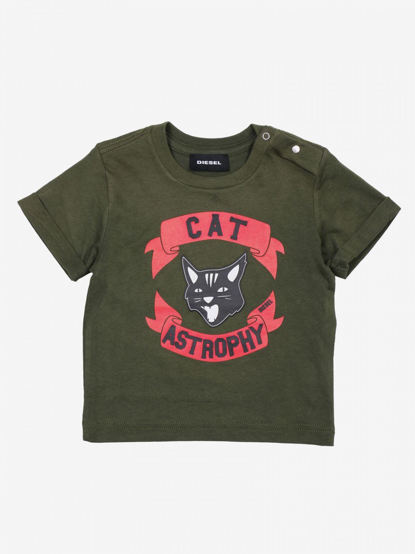 T-shirt bambino Diesel militare 1