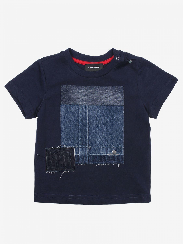 T-shirt bambino Diesel blue 1