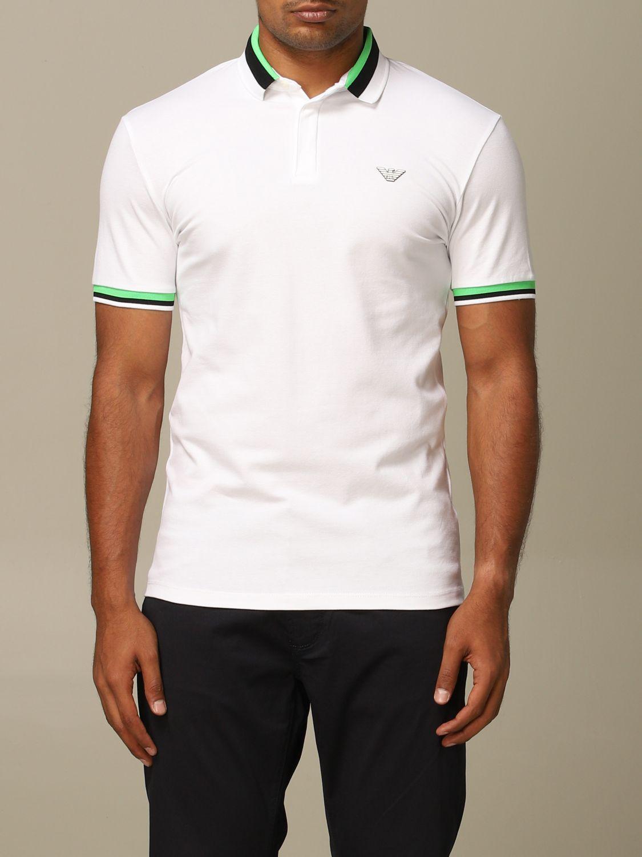 Polo shirt Emporio Armani: Emporio Armani polo shirt with striped edges white 1