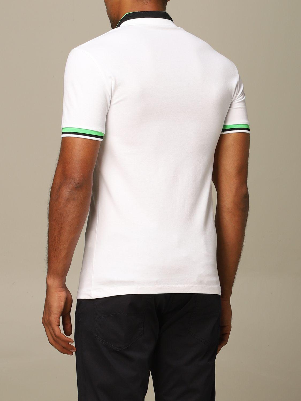 Polo shirt Emporio Armani: Emporio Armani polo shirt with striped edges white 2