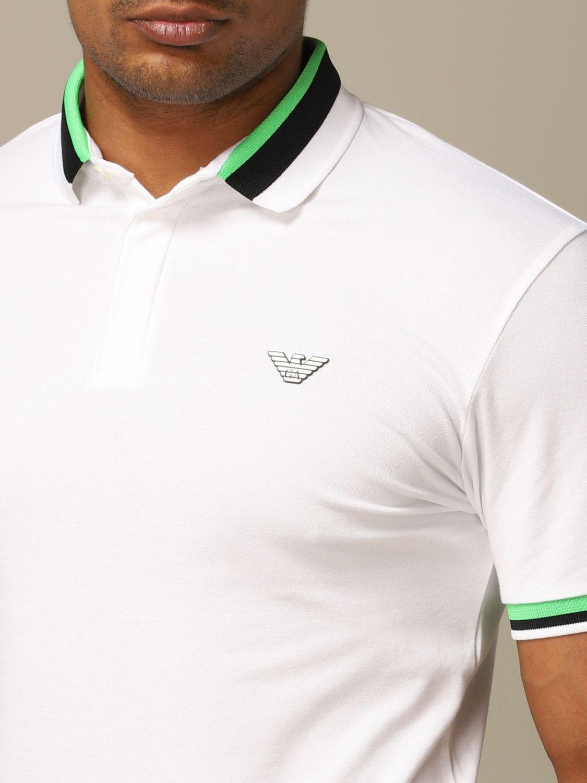 Polo shirt Emporio Armani: Emporio Armani polo shirt with striped edges white 3