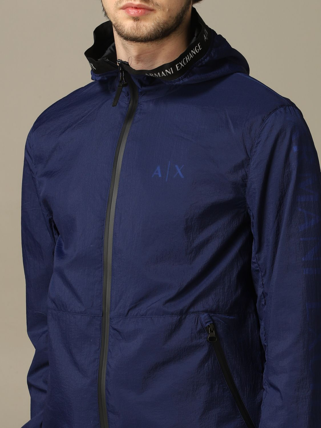 Giacca sportiva Armani Exchange con big logo blue 3