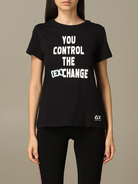 T-Shirt Armani Exchange: T-shirt women Armani Exchange black 1