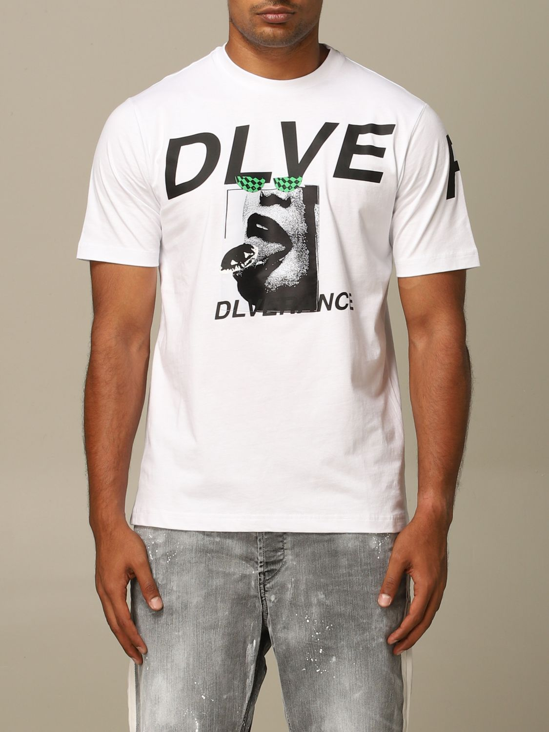 Sweater Diesel: Diesel T-shirt with DLVERANCE print black 1