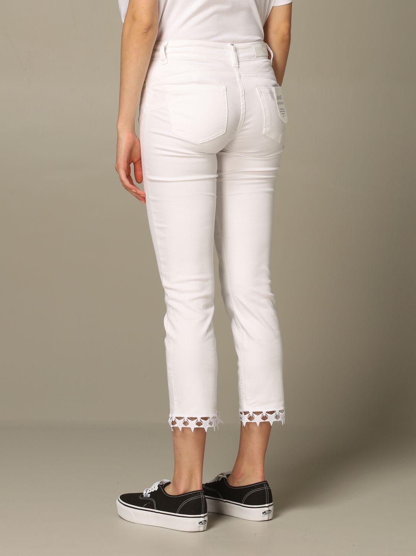 Pantalone Liu Jo con criss cross e stelle effetto laser bianco 2