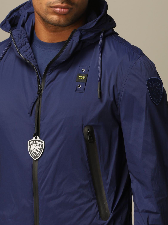 Giacca Blauer: Giacca sportiva Blauer con cappuccio blue 3