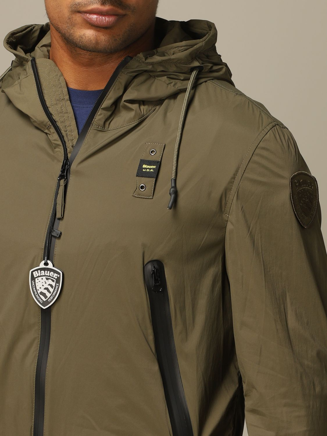 Jacket Blauer: Blauer sports jacket with hood military 3