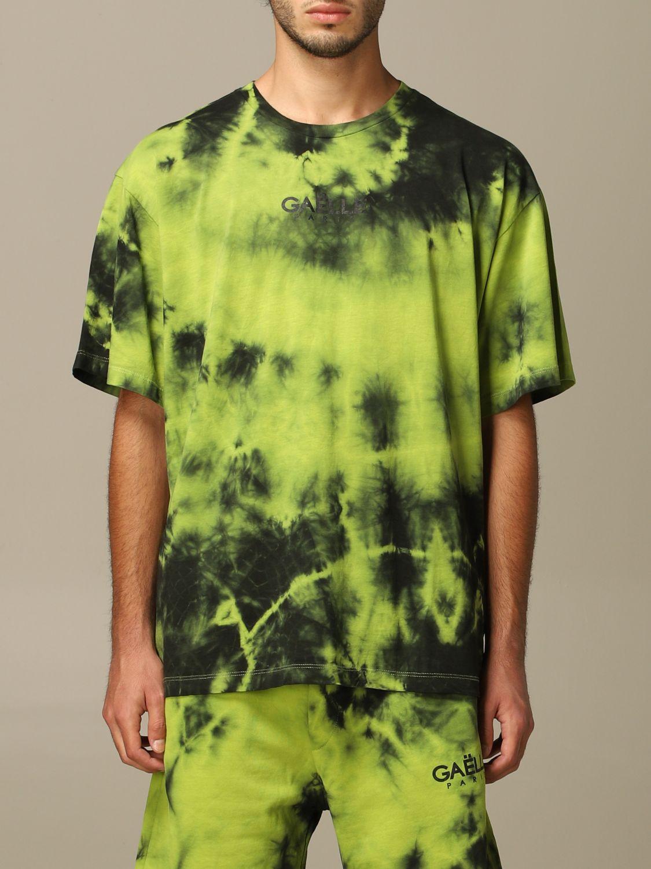 Maglia Gaelle Bonheur: T-shirt Gaelle Bonheur con stampa tie dye verde acido 1