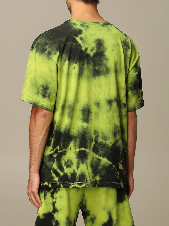 Maglia Gaelle Bonheur: T-shirt Gaelle Bonheur con stampa tie dye verde acido 2