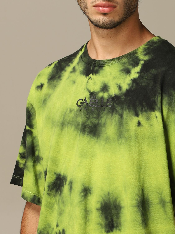 Maglia Gaelle Bonheur: T-shirt Gaelle Bonheur con stampa tie dye verde acido 3