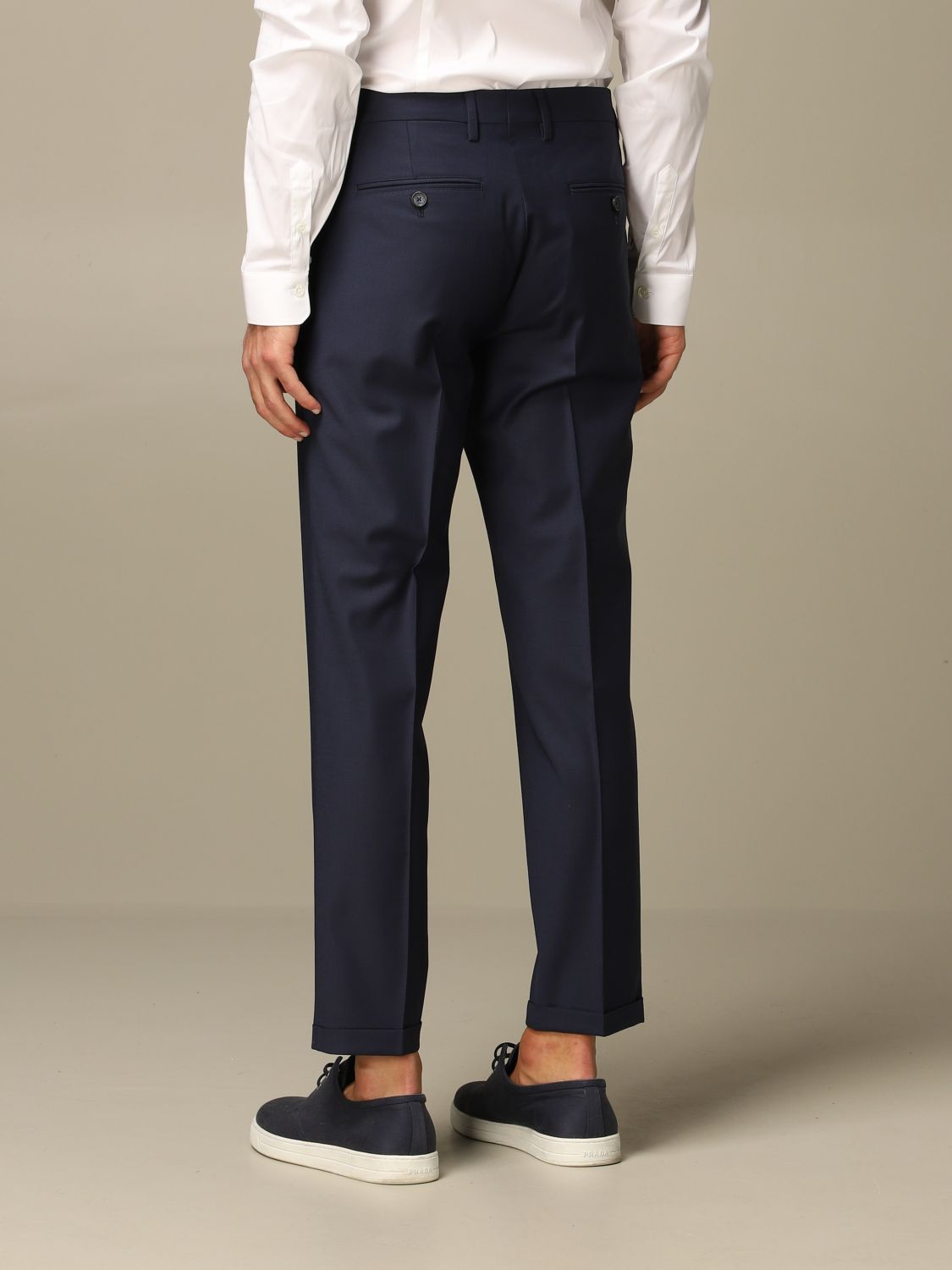 Pants Patrizia Pepe: Patrizia Pepe trousers with regular waist navy 2
