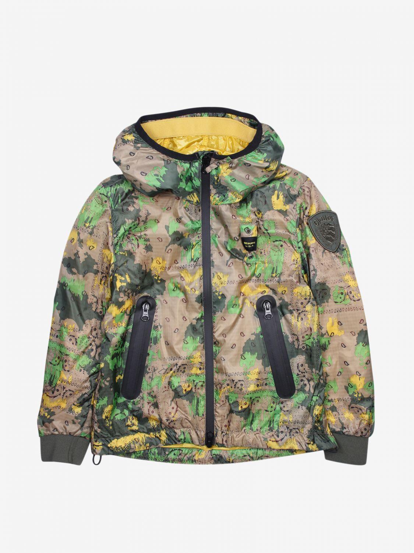 外套 Blauer: Blauer 迷彩印花拉来你连帽尼龙外套 彩色 1