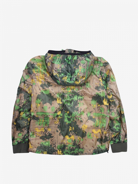 外套 Blauer: Blauer 迷彩印花拉来你连帽尼龙外套 彩色 2