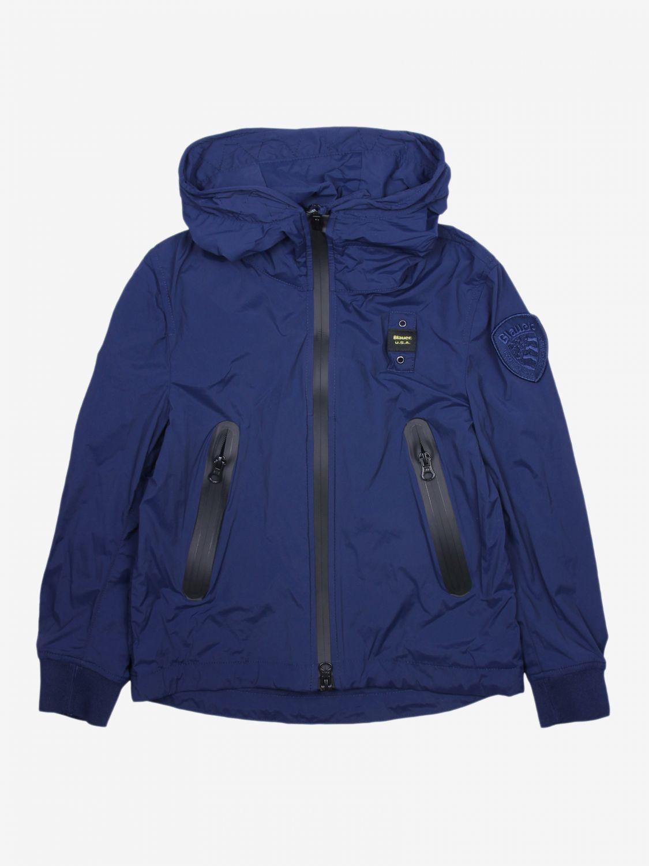 外套 Blauer: Blauer 拉链连帽尼龙外套 蓝色 1