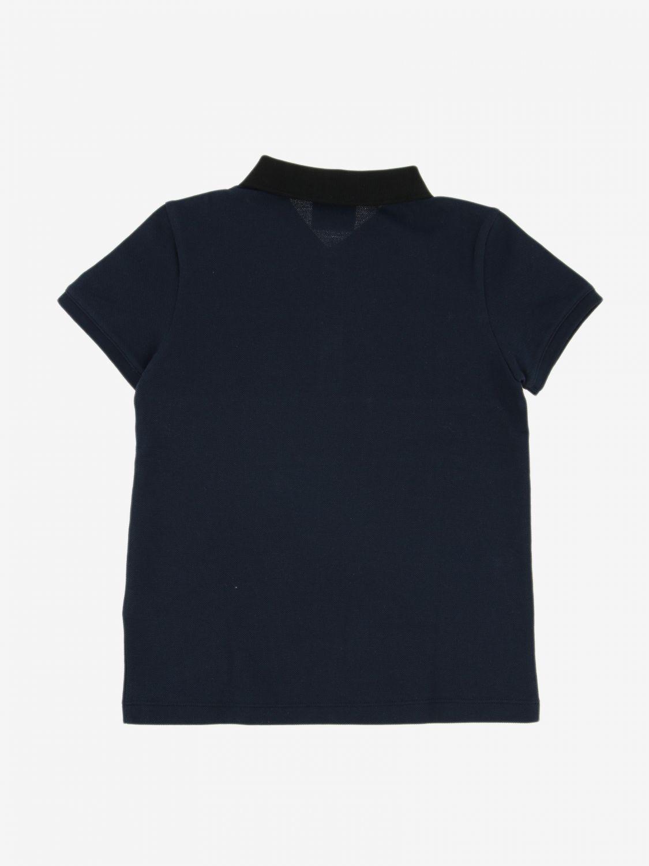 T-shirt Burberry Infant: Polo Burberry Infant con banda check blue 2