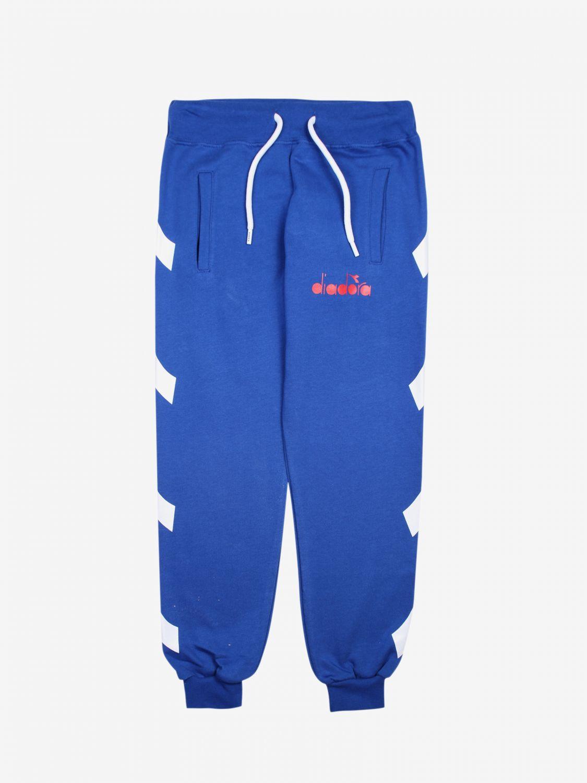 Pantalón niños Diadora royal blue 1