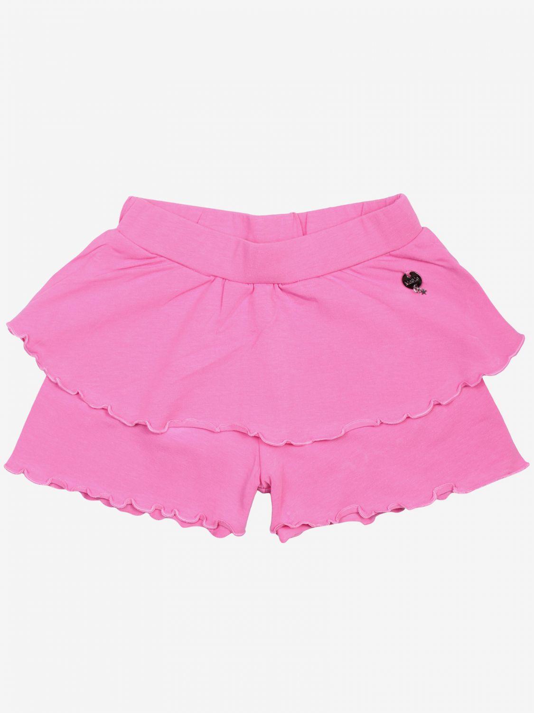Pantalons courts enfant Maelie rose 1