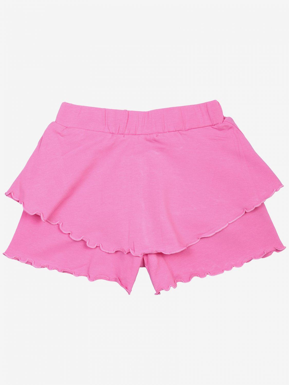Pantalons courts enfant Maelie rose 2