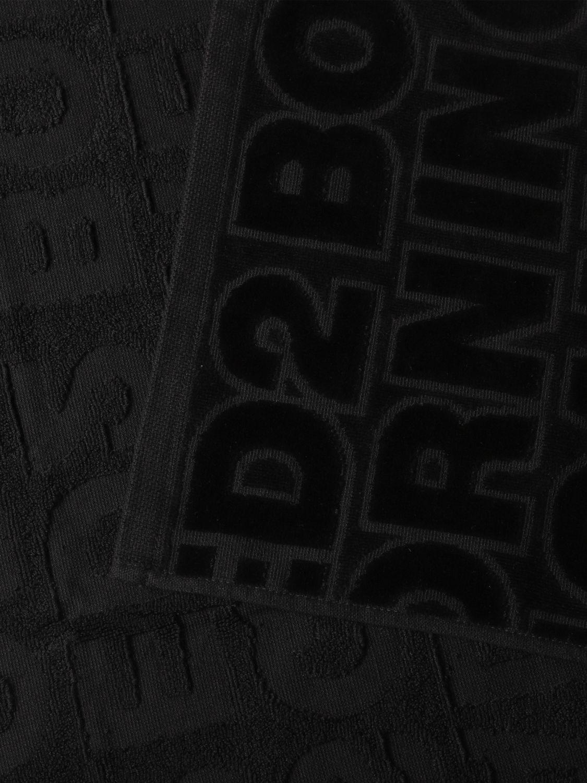 浴巾 Dsquared2: 浴巾 男士 Dsquared2 黑色 2