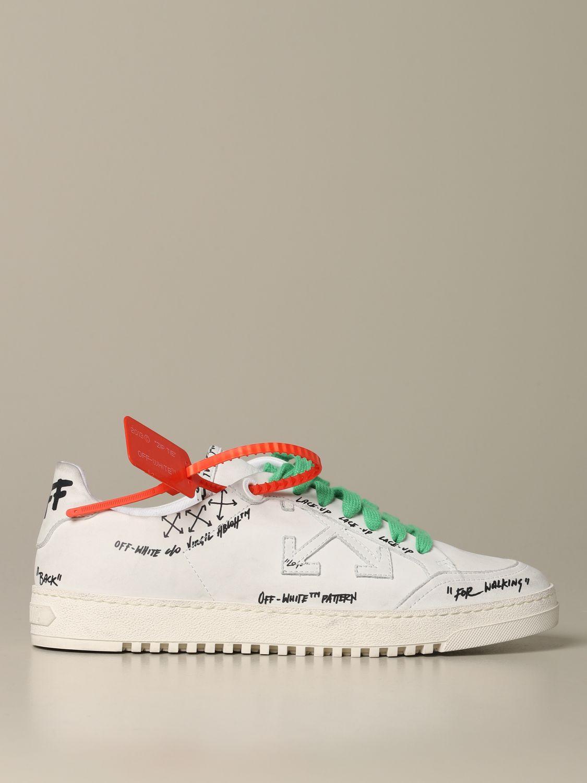 Off White Sneakers In Printed Leather Sneakers Off White Men White Sneakers Off White Omia042r20d93054 Giglio En