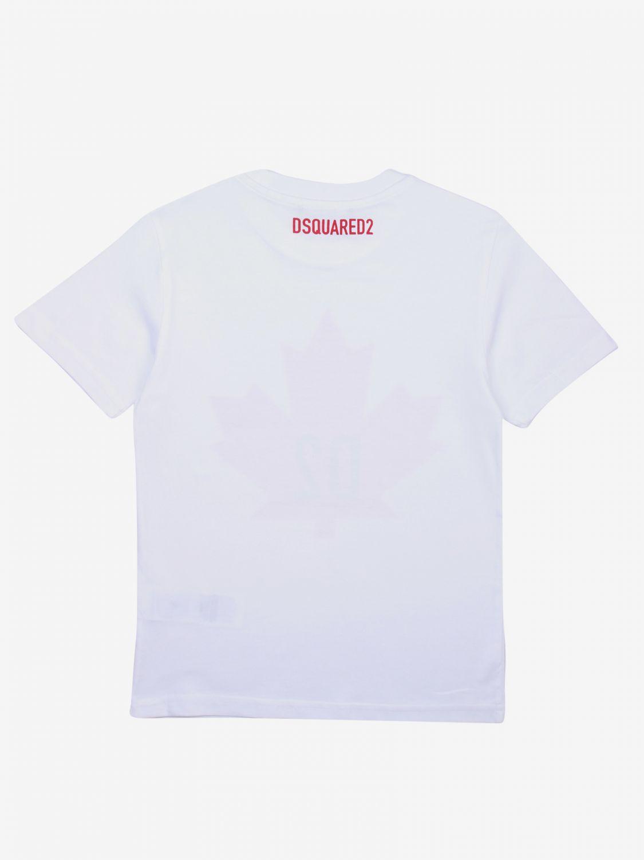 Dsquared2 Junior logo印花T恤 白色 2