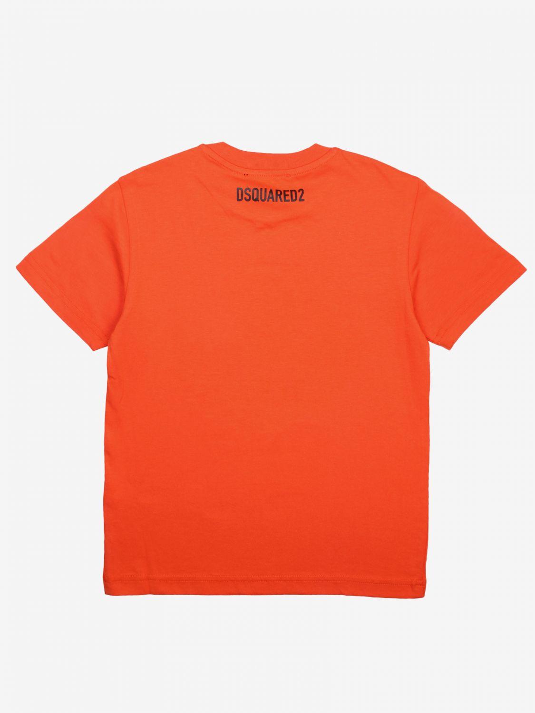 Dsquared2 Junior logo印花T恤 橙色 2