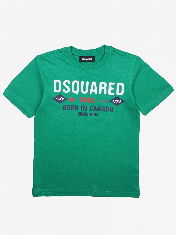 Dsquared2 Junior logo印花T恤 绿色 1