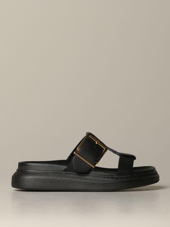 Flat sandals Alexander Mcqueen: Heeled sandals women Alexander Mcqueen white 1