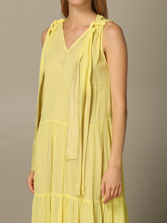 连衣裙 8Pm: 连衣裙 女士 8pm 黄色 3