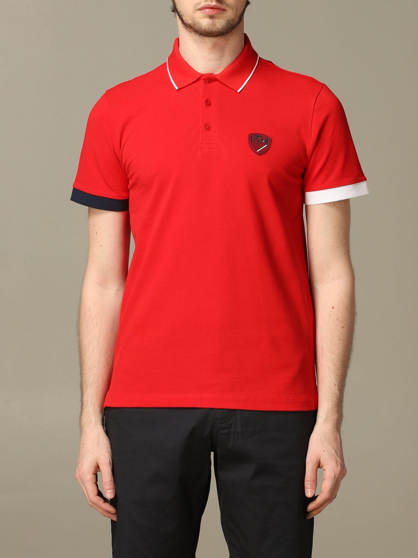 T-Shirt Ea7: T-shirt herren Ea7 rot 1