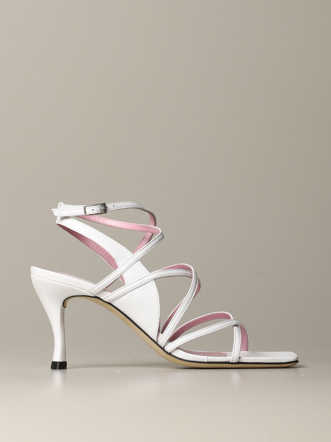 Heeled sandals women By Far white 1