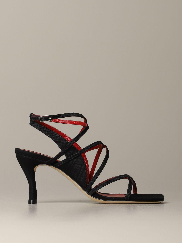 Heeled sandals women By Far black 1