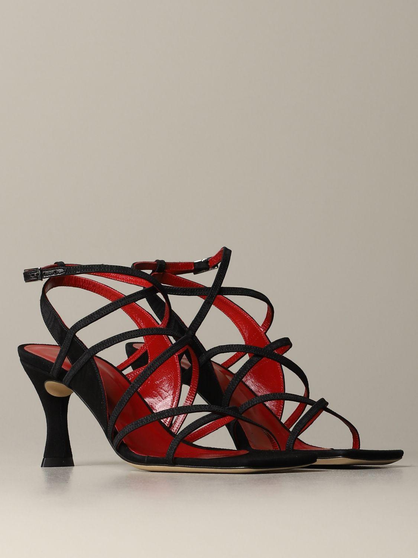 Heeled sandals women By Far black 2