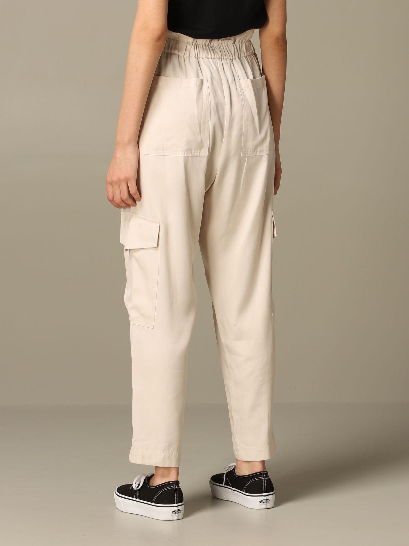 Pantalone 8Pm: Pantalone 8pm ampio con fascia elasticizzata burro 2