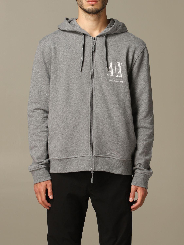 Sweatshirt herren Armani Exchange grau 1